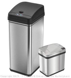Stainless Steel Touchless Trash Can 13 Gallon ($102.11 Online)