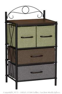 Side Table with 4 Fabric Drawers (Online $60.99)