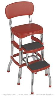 Cosco Retro Counter Chair/Step Stool, Red (Online $55.98)