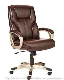Amazon Basics High-Black Executive Chair- Brown (Online $111.99)