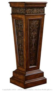Faux Metal Inlay Accent Pedestal (Online &178.66)