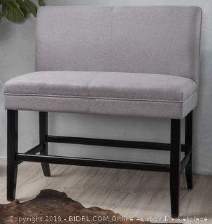 Double Barstool - Light Grey Christopher Knight Home 299995 Elisse Fabric(Online $155.13)