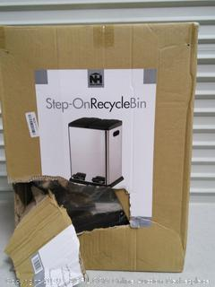 Dual Compartment Step on Recycling Trash Can (online $122)