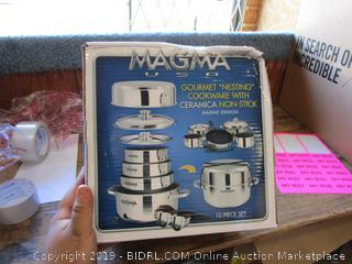Magma Gourmet Nesting Cookware w/Ceramica Non-Stick