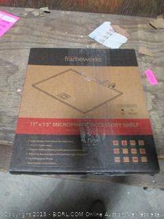 Gator Frameworks Microphone Stand Clamp On Utility Shelf