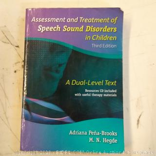 Assessment and Treatment of Speech Sound Disordered in Children