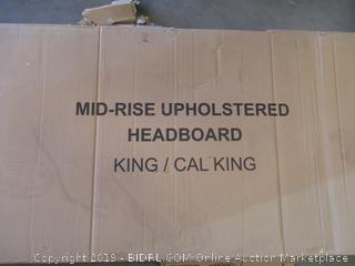 KING/CAL-KING MID-RISE UPHOLSTERED HEADBOARD