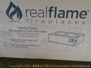 Baltic Rectangle Propane Fire Table - Real Flame (online $899)