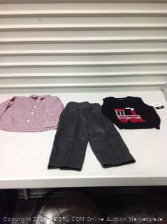 Boys' Little Sweater Vest Set