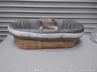 Zuma Moses Basket, Grey/White (online $91)