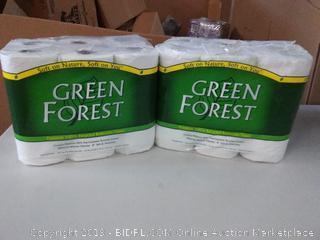 Green Forest Tissue - 24 Rolls