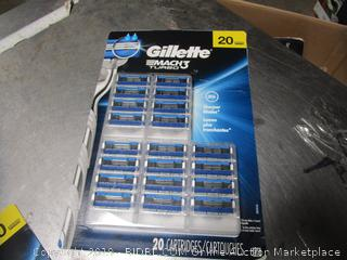 Gillette Mach 3 Turbo Replacement Heads Cartridges