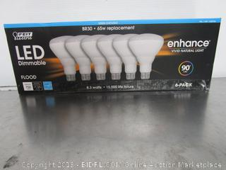 Feit Electric Enhance LED Dimmable BR30 Light Bulbs 8.3W/65W Daylight