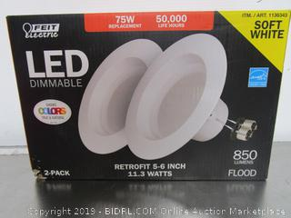 "Feit Electric LED Dimmable 11.3W/75W Soft White 5-6"" Retrofit Kits"