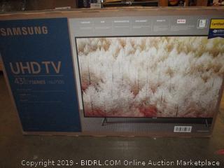 "Samsung UHDTV 43"""