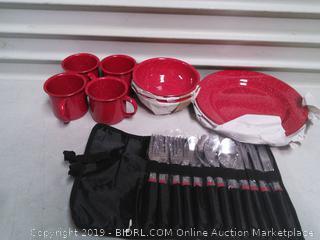 Coleman 24 Piece Dinnerware Set