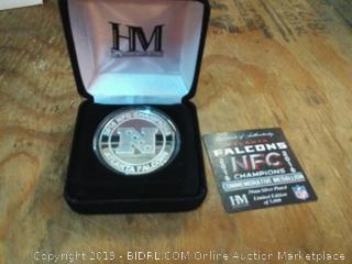 NFL Atlanta Falcons 2016 NFC Champions Silver Mint Coin
