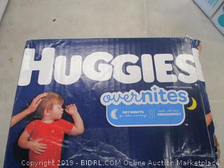 HUGGIES OVERNIGHT DIAPERS SIZE 6