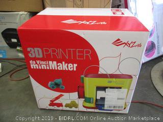 XYZ PRINTING DA VINCI 3D PRINTER MINI MAKER (FACTORY SEALED)