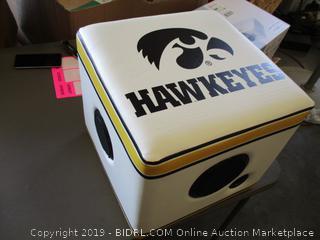 RAINMAKER IOWA HAWKEYES BLUETOOTH SPEAKER OTTOMAN (POWERS ON)
