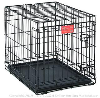 MidWest Life Stages Single Door Folding Dog Crate, Small Dog Breed