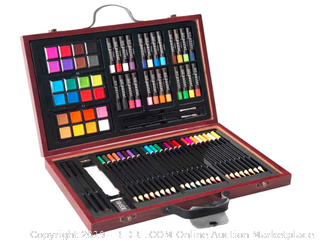 Studio 71 Deluxe Drawing & Painting Kit in Wooden Case - 80 piece set, Ages 6+