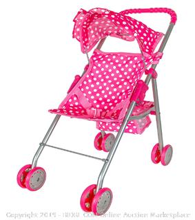 Girls Baby Doll Umbrella Stroller