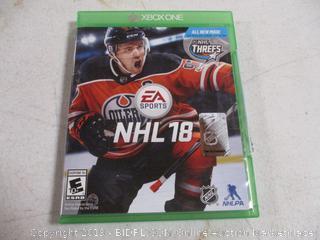 Xbox NHL 18 Game