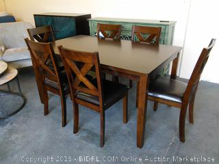 Colne 7 Piece Solid Wood Dining Set by Darby Home Co (Online $879.99)