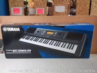 Yamaha PSR-E363 61 Keys Touch-Sensitive Portable Keyboard (online $179) factory sealed