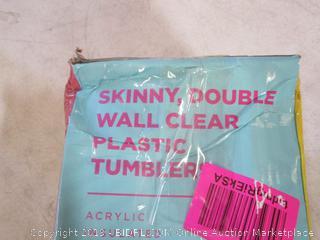 Plastic Skinny Tumblers