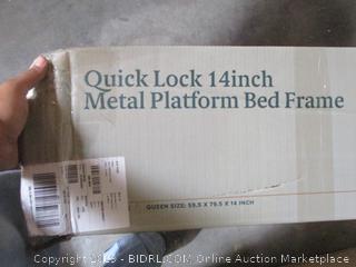 Zinus Quick Lock 14 Inch Metal Platform Bed Frame Queen