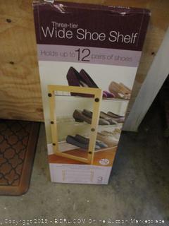Wide Shoe Shelf