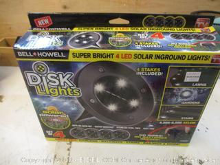 Disk Lights Solar Powered