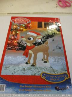 Metal Decor Rudolph