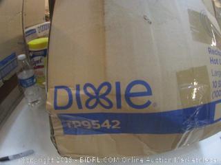 Dixie Hot Cup Lids damaged