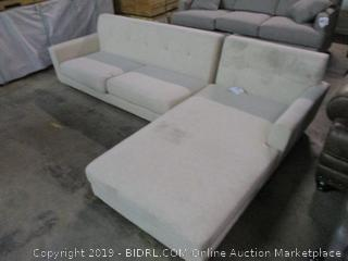Sofa with Storage Chaise See Pictures Dirty