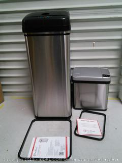 iTouchless 13 Gallon and 2.5 Gallon Sensor Trash Cans (Set of 2) online $96