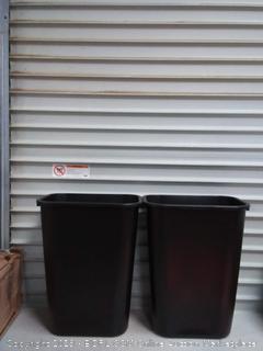 Rubbermaid Plastic Wastebaskets 10 GallonBlack Pack of 2