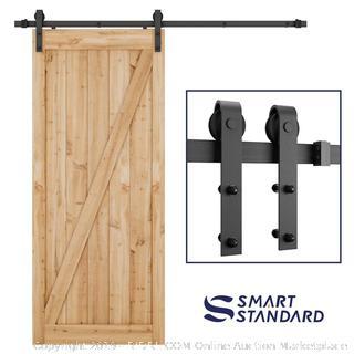 SMARTSTANDARD 6.6 Foot Heavy Duty Sliding Barn Door Hardware Kit, door not included