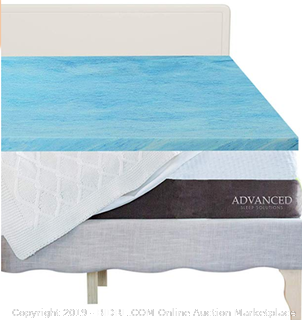 King - 3 Inch Gel Memory Foam Mattress Topper King, CertiPur-US Approved King Size Memory Foam Mattress Topper - Online $140 -, Comfortable, Medium Soft Mattress Toppers for King Bed