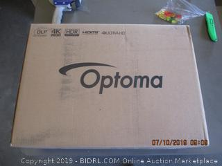 OPTOMA 4K UHD SMART PROJECTOR (FACTORY SEALED, OPENED FOR PICTURING)