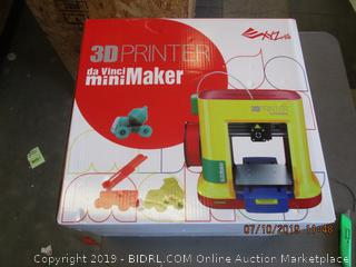 XYZ PRINTING DA VINCI 3D PRINTER MINI MAKER (FACTORY SEALED, OPENED FOR PICTURING)