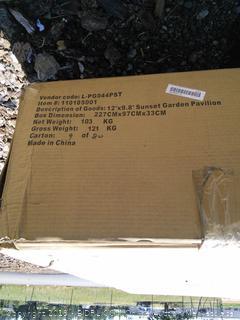 Siesta Garden 10 Ft. W x 12 Ft. D Metal Patio Gazebo (online $775)
