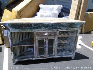 Longshore Tides Lozoya Pub Table/Bar (online $1669) corner broken