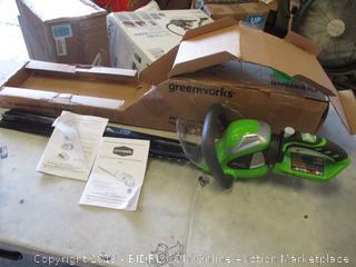 GREENWORKS ROTATING HEDGE TRIMMER