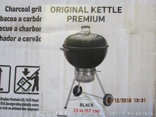 WEBER ORIGINAL KETTLE PREMIUM GRILL (FACTORY SEALED, OPENED FOR PICTURING)