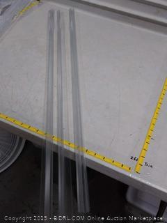 2 frameless shower door strip