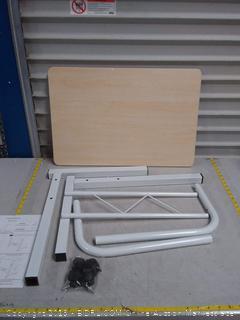 Akway mobile laptop desk white maple( missing Hardware)