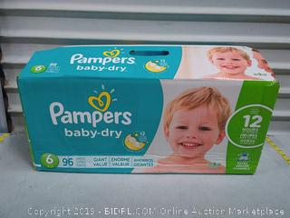 Pampers Baby Dry Diapers Size 6 96 pck